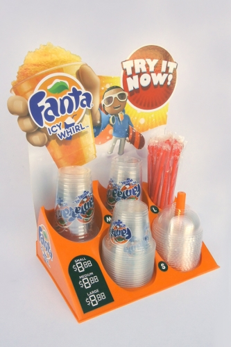 Fanta icy whirl cup holder