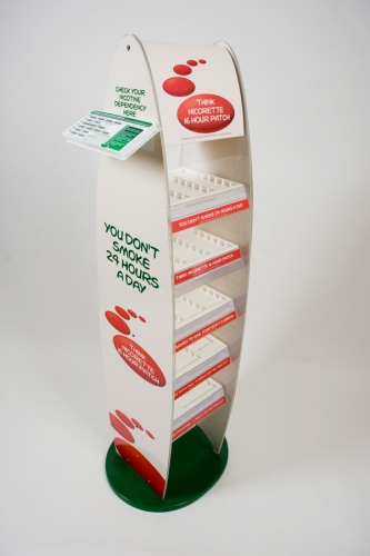 Nicorette double sided stand