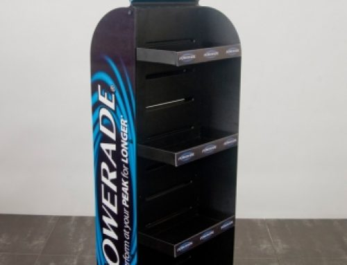 Powerade double sided stand